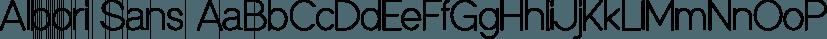Albori Sans font family by ArtCoast