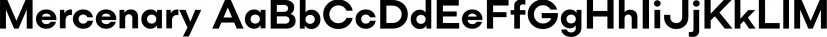 Mercenary font family by Miller Type Foundry