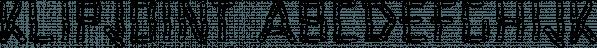 KlipJoint font family by Ingrimayne Type