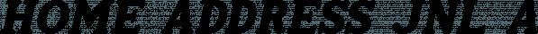 Home Address JNL font family by Jeff Levine Fonts