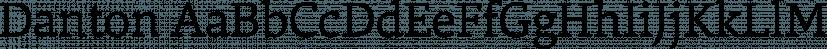 Danton font family by Hoftype