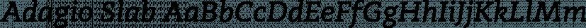 Adagio Slab font family by BORUTTA