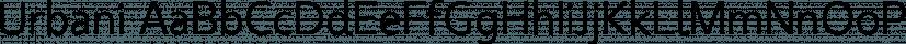 Urbani font family by W Type Foundry