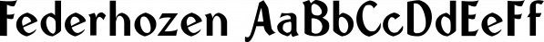 Federhozen font family by Ingrimayne Type