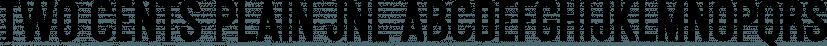 Two Cents Plain JNL font family by Jeff Levine Fonts