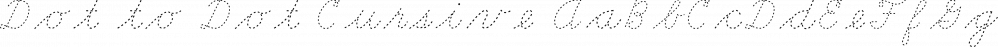 Dot to Dot Cursive font family by A New Machine