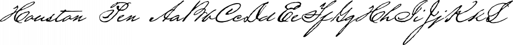 Houston Pen font family by Three Islands Press