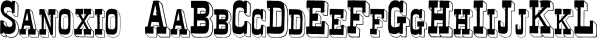 Sanoxio font family by Intellecta Design