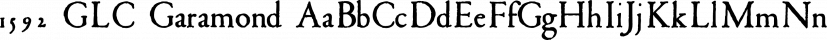 1592 GLC Garamond font family by GLC Foundry