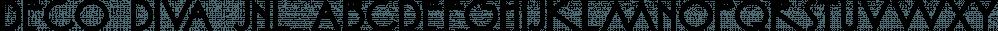 Deco Diva JNL font family by Jeff Levine Fonts