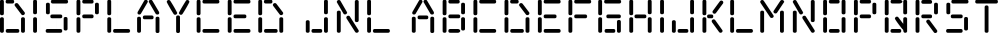 Displayced JNL font family by Jeff Levine Fonts