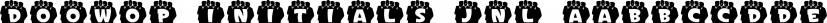 Doowop Initials JNL font family by Jeff Levine Fonts