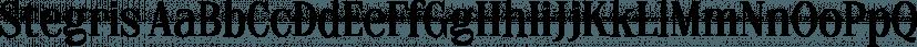 Stegris font family by Letterhend Studio