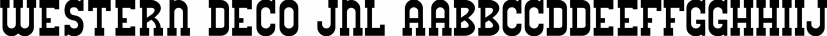 Western Deco JNL font family by Jeff Levine Fonts