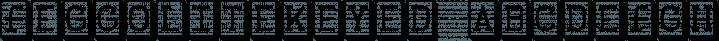 FeggoliteKeyed font family by Ingrimayne Type
