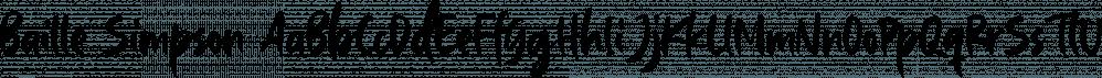 Baille Simpson font family by Letterhend Studio