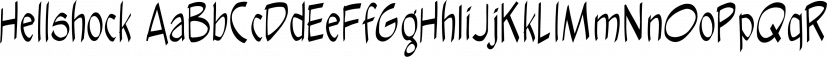 Hellshock font family by Comicraft