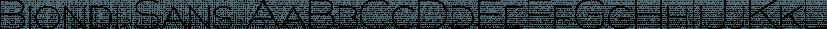 Biondi Sans font family by Typodermic Fonts Inc.