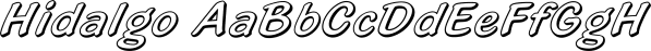 Hidalgo font family by FontSite Inc.