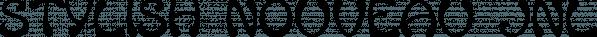 Stylish Nouveau JNL font family by Jeff Levine Fonts