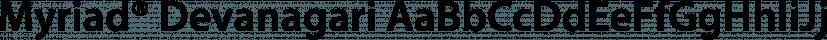 Myriad® Devanagari font family by Adobe