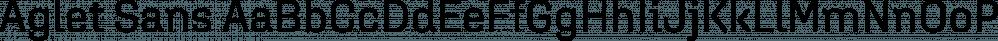 Aglet Sans font family by XYZ Type