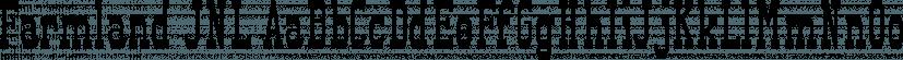 Farmland JNL font family by Jeff Levine Fonts