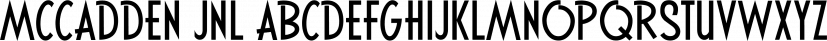 McCadden JNL font family by Jeff Levine Fonts