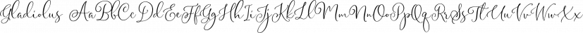 Gladiolus font family by Letterhend Studio