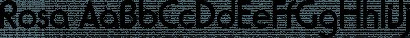 Rosa font family by SoftMaker