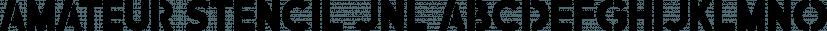 Amateur Stencil JNL font family by Jeff Levine Fonts
