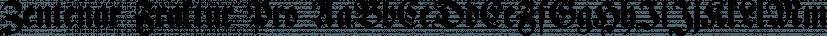 Zentenar Fraktur Pro font family by SoftMaker
