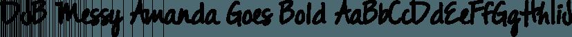 DJB Messy Amanda Goes Bold font family by Darcy Baldwin Fonts