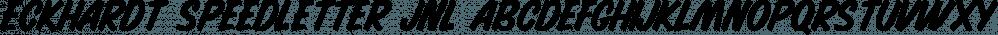 Eckhardt Speedletter JNL font family by Jeff Levine Fonts