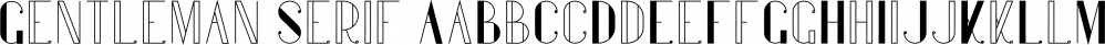 Gentleman Serif font family by VPcreativeshop