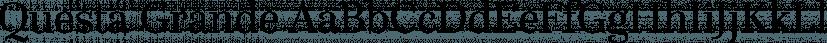 Questa Grande font family by The Questa Project