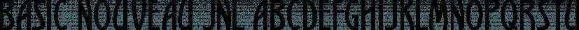 Basic Nouveau JNL font family by Jeff Levine Fonts