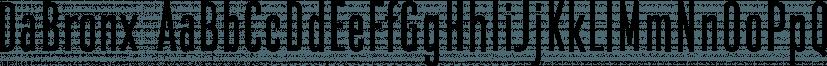 DaBronx font family by Good Gravy Type