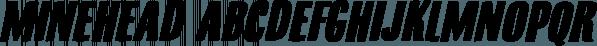 Minehead font family by Hanoded