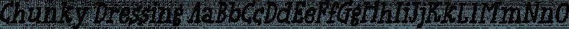 Chunky Dressing font family by Bogstav