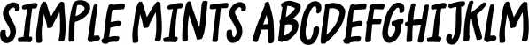 Simple Mints font family by Pizzadude.dk