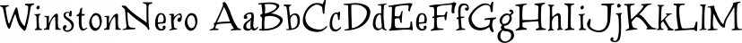 WinstonNero font family by JOEBOB Graphics