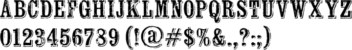 Wausau Font Specimen