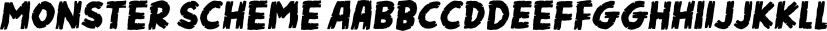 Monster Scheme font family by Pizzadude.dk