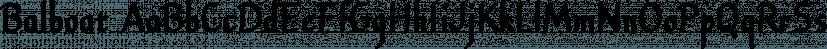 Balboat font family by Ingrimayne Type