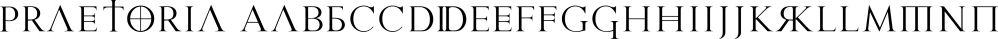 Praetoria font family by Sharkshock