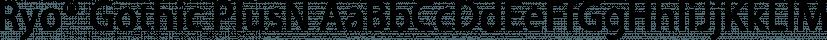 Ryo® Gothic PlusN font family by Adobe