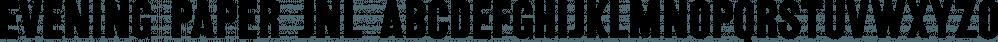 Evening Paper JNL font family by Jeff Levine Fonts