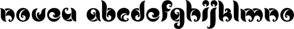 Noveu font family by Fontfabric