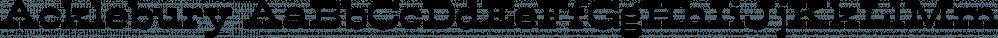 Acklebury font family by Studio Buchanan